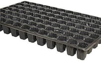 Bandejas semillero de plastico negro 84 alveolos flexible